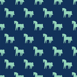 seamless horse pattern - 198331355