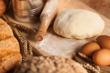Bread Dough with Ingredients