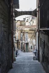 Street in Palermo in Sicily, Italy