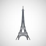 Eiffel Tower  logo icon design, vector illustration