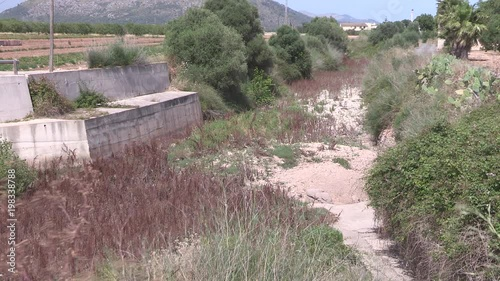 Dry riverbed on Mallorca, Spain.