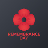 Remembrance Day logo icon design, vector illustration