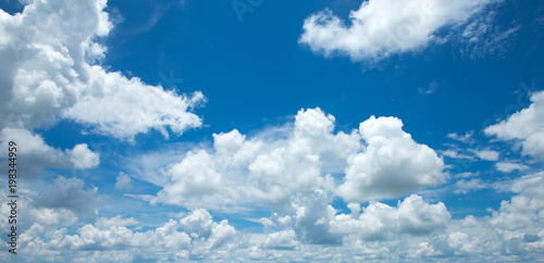 Blue sky with white clouds - 198344959