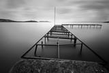 Black white pier