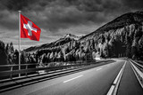 Straße in der Schweiz