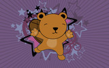 cute baby beaver jumping cartoon background in vector format very easy to edit