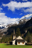Berner Oberland alpine landscape in Kandersteg, Switzerland, Europe