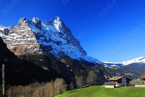 Foto op Plexiglas Donkerblauw Eiger Peak (3970m), Berner Oberland, Switzerland, Europe