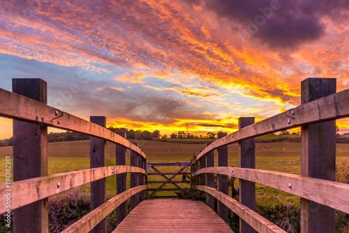 Plexiglas Aubergine Caister sunset