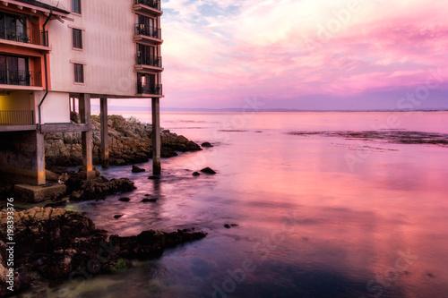 Foto op Plexiglas Lichtroze Amazing pink sunset in Monterey, California