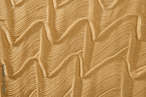 Foto op Canvas Zen flowing art wave pattern sand for wellness and tranquility with copy space
