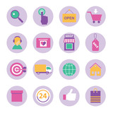 big set of flat icons for online shopping internet  infographic design elements - 198401367