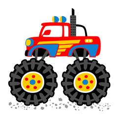 monster truck cartoon. eps 10