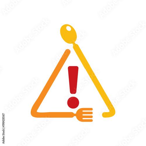 Warning Food Logo Icon Design - 198428567
