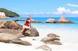 Quadro Christmas on the beach, Praslin Island, Seychelles