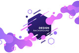 Trendy concept abstract geometric design, memphis background. Applicable for placards, brochures, posters, covers and banners. Vector illustration. - 198435343