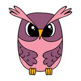 vector, isolated owl character, cartoon
