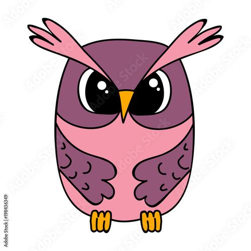 Fotobehang Uilen cartoon vector, isolated owl character, cartoon