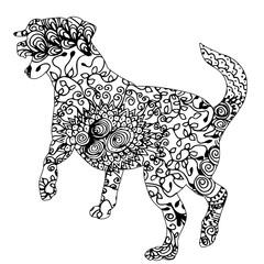 ornament dog, pattern on white background