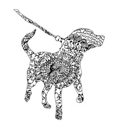 isolated ornament dog, pattern