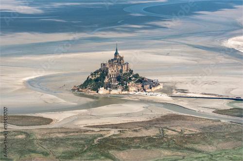 Sticker vue aérienne du Mont Saint Michel en France
