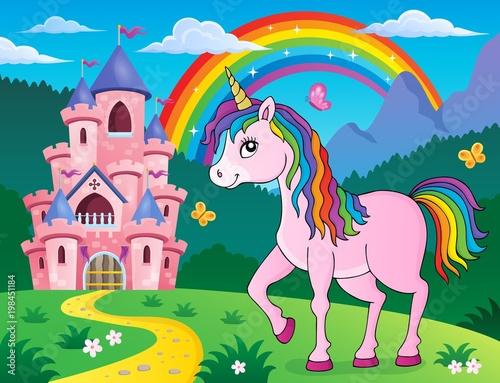 Poster Voor kinderen Happy unicorn topic image 2