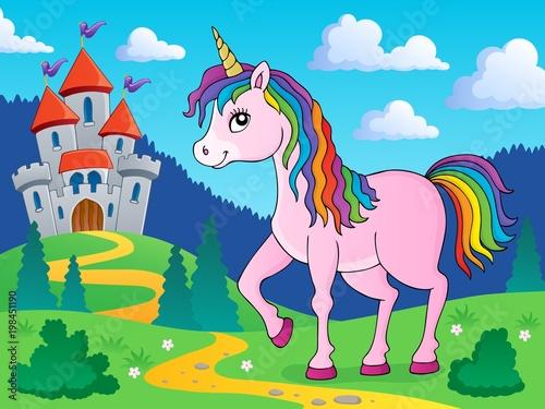 Poster Voor kinderen Happy unicorn topic image 3