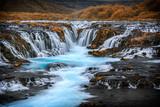 Traumhaft schöner Bruarfoss mit türkis blauen Wasser_002
