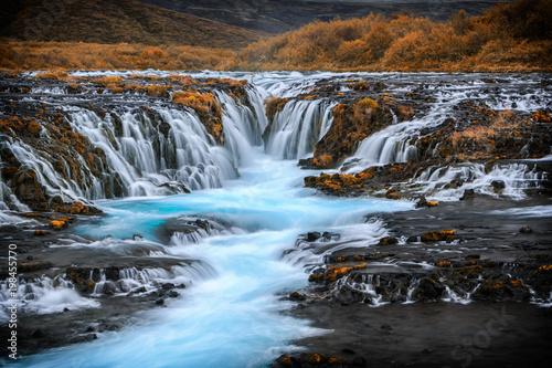 Traumhaft schöner Bruarfoss mit türkis blauen Wasser_002 - 198455770