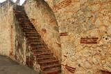 Ancient brick staircase in Santo Domingo - 198457576