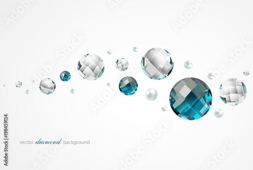 Streszczenie tło z diamentami i perłami