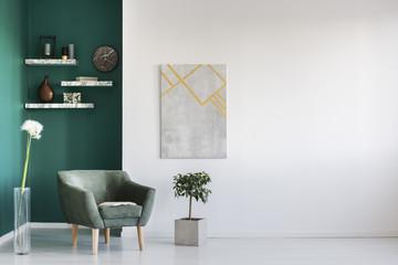 Dandelion in living room interior