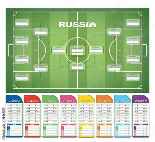 Fototapeta Fußball - Spielplan '18