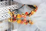 Wreath Bride of orange flowers - 198473773
