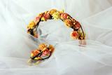 Wreath Bride of orange flowers - 198473961