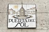 Straßenschild an der Puerta de Sol, Madrid, Spanien, Europa