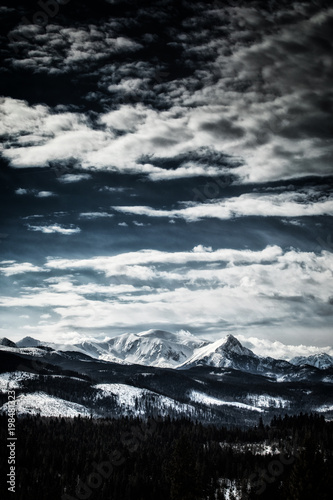 Snow-covered peaks of the Tatra Mountains.