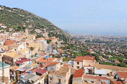 Fotobehang Palermo Panorama di Palermo dal Duomo di Monreale - Sicilia