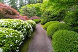 Stroling Garden Path in manicured Japanese Garden