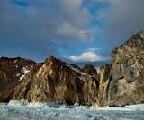 Russia. A pile of ice on lake Baikal.