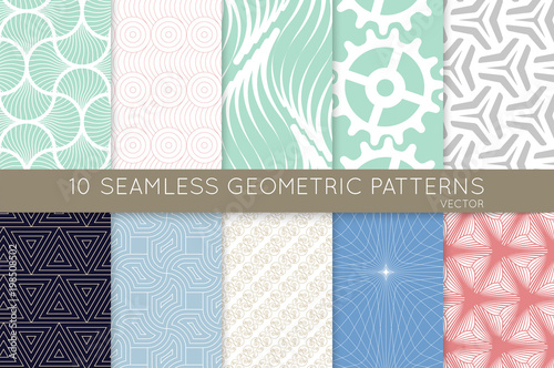 Plakat Collection of seamless patterns