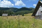 Tatry, chaty góralskie w Dolinie Chochołowskiej