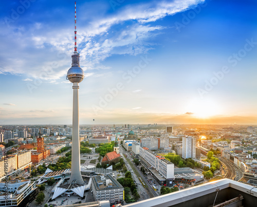 Poster Berlijn panoramic view at the berlin city center