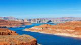 Lake Powell on the border between Utah and Arizona, United States. - 198519315