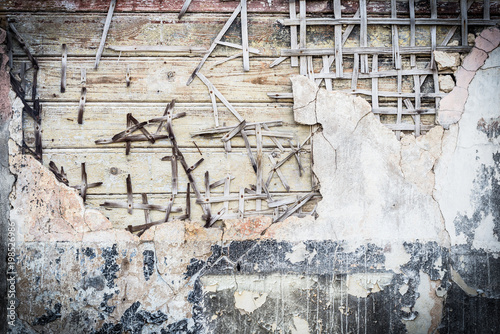 Antique wooden wall background - 198526986
