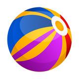 Isolated beach ball icon