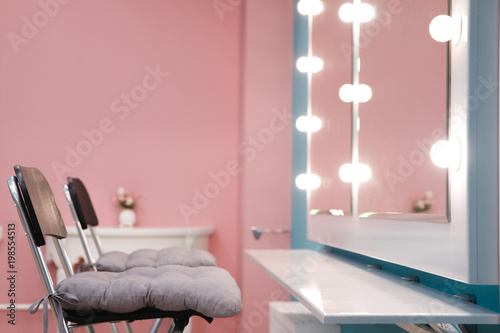 Interior beauty salon, place for make-up artist, hairdresser.