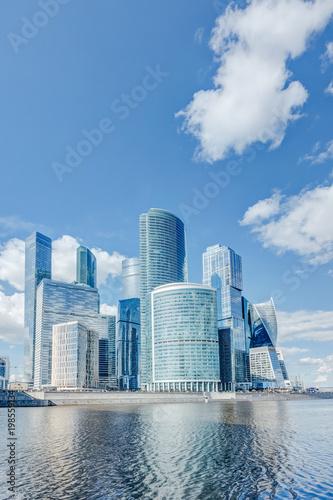 Foto op Aluminium Moskou Complex Moscow city on the Moskva River