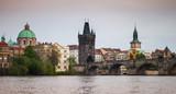 Charles Bridge over Vltava in Old Prague