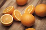 Pomarańcza przekrojona na pół